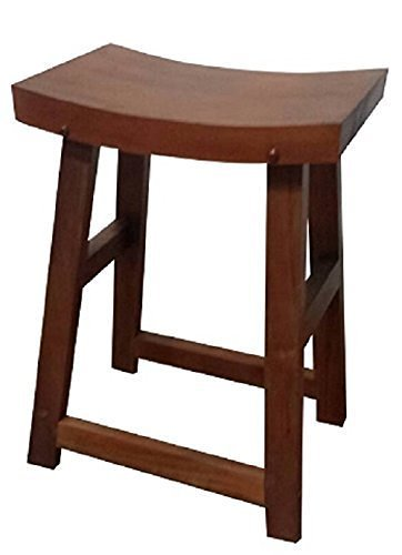 Amazoncom Urnporium Solid Mahogany Saddle Wooden Barstool Counter