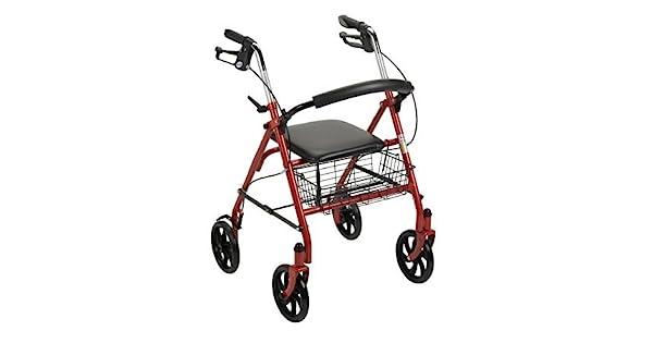 Amazon.com: MCKESSON acero resistente andador – rojo – 1 ...