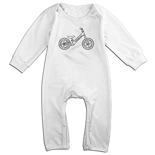 Baby Costumes In Walmart (Baby Infant Romper Bicycle Parts Long Sleeve Jumpsuit Costume White 6 M)