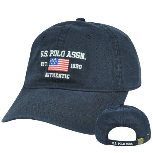 uspa-flag-us-polo-association-assn-garment-wash-clip-buckle-hat-cap-navy-blue