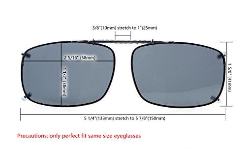 sur les polarise mm avec Neuf de Marron verre Eyekepper large lunettes marron soleil 58x38 gwBfCwqEt
