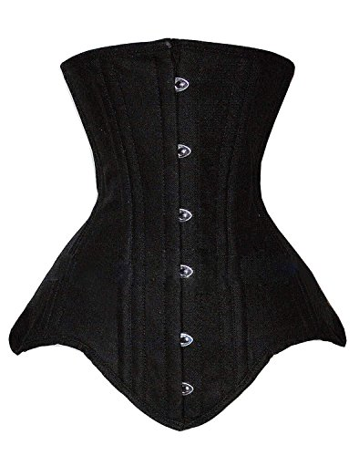 Camellias Women's Double Steel Boned Body Shaper Long Line Underbust Waist Training Corset, (Steel Boned Underbust Corset)