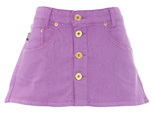Diesel Womens Revolution Sparkle Button FRNT Mini Skirt #00D2Z7 Purple Sz 26 New