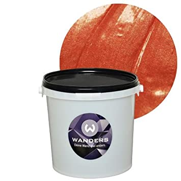 Kupfer Wandfarbe wanders24 metall optik 3 liter kupfer effektfarbe wandfarbe