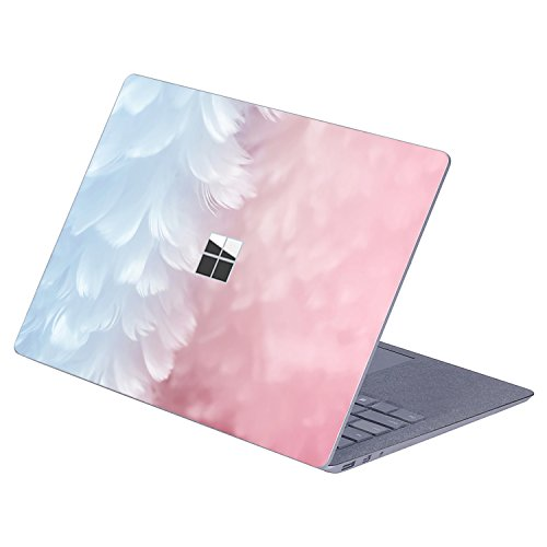 Masino 1 PCS Top Sticker Protective Decal Protector Laptop Cover Skin for 13 13.5 inch Microsoft Surface Laptop 1/2 (2017 & 2018 Released) (for 13.5 Surface Laptop, Feather)