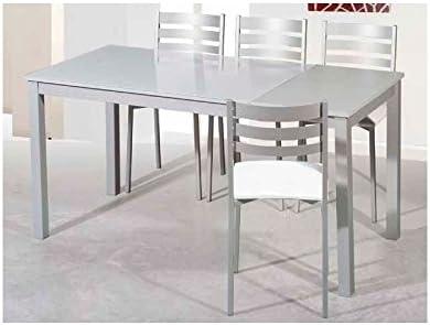 Amuebla 9289. Mesa DE Cocina DE 120 X 80 CM. Extensible.: Amazon ...