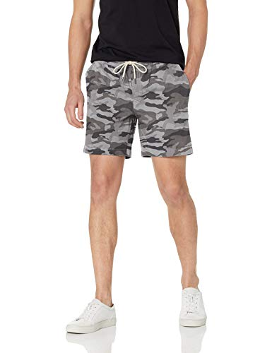 Goodthreads Men's 7 Inseam Pull-On Stretch Canvas Short, Grey Camo, X-Large