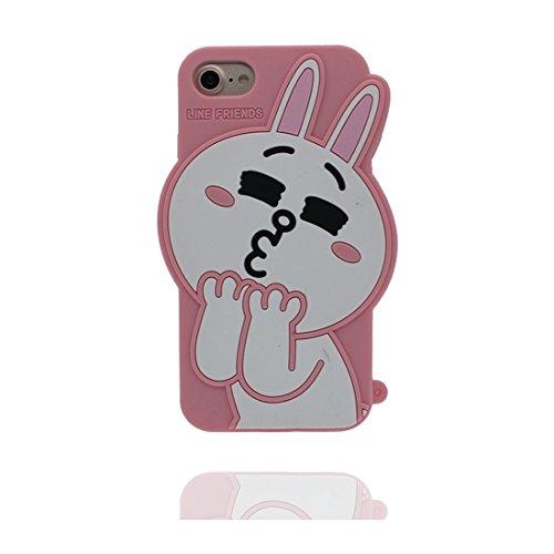"""Apple iPhone 6 Plus Coque (5.5""""), [ de matériau TPU souple rose lapin ] iPhone 6s Plus étui (5.5 pouces), poussière glissement résistant aux rayures, iPhone 6 Plus Case et ring Support de téléphone"""