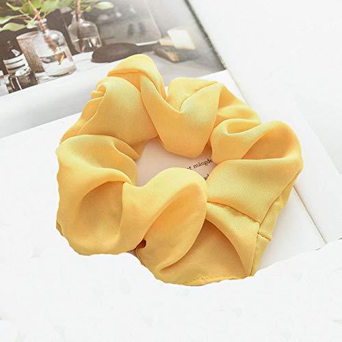 Elastic Hair Bands Ties Scrunchy Hair Ties Ropes Flower Chiffon Scrunchies Ponytail Holder Bobbles ()