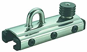 """Nautos #91413-GENOA CAR-SLIDER WITH EYE AND STOP - 32 MM (1 1/4"""") """"T"""" TRACK"""
