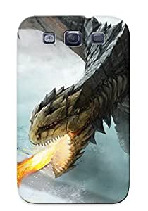 Ellent Galaxy S3 Case Tpu Cover Back Skin Protector Fire Breathing Dragon For Lovers' Gifts