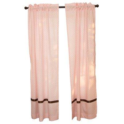 - Go Mama Go Window Panels, Pink/Chocolate