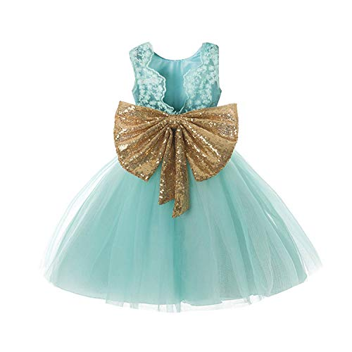 Gorgeous Baby Events Party Wear Tutu Tulle Infant Christening Gowns Children's Princess Dresses for Girls Toddler Evening Dress,Green,5T (Best Hashtags For Wedding Industry)