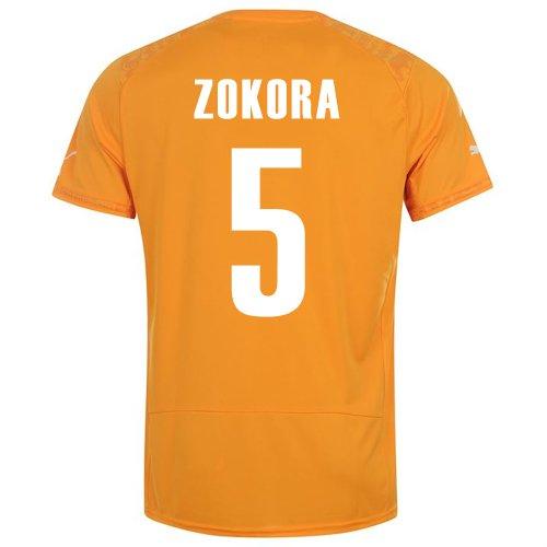 自己リフレッシュ熱心なPUMA ZOKORA #5 IVORY COAST HOME JERSEY WORLD CUP 2014/サッカーユニフォーム コートジボワール ホーム用 ワールドカップ2014 背番号5 ゾコラ