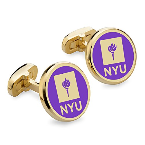 NCAA NYU Violets M.LaHart Enamel Cufflinks
