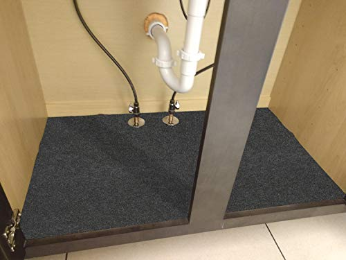 Kitchen Under The Sink Mat,Cabinet Mat – Absorbent/Waterproof – Protects Cabinets, Premium Shelf Liner, Contains Liquids… under-sink organizers