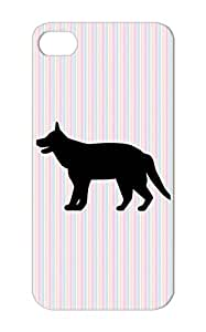 TPU Dog For Iphone 5 Dog Dogs Doggie Dogs Animals Nature Pup Doggy Puppy Silhouette Companion Animal Black Rugged Case