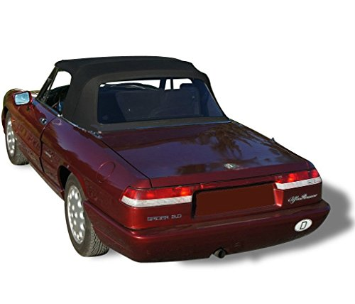 Alfa Romeo 2000 Spider Veloce - Alfa Romeo Spider, Veloce, Graduate Convertible Top Replacement & Plastic window 1971-1994 Stayfast Cloth (Black)