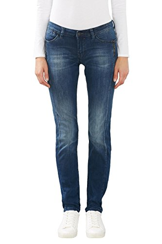 edc by ESPRIT 116cc1b039, Jeans Mujer Azul (Blue Medium Wash)