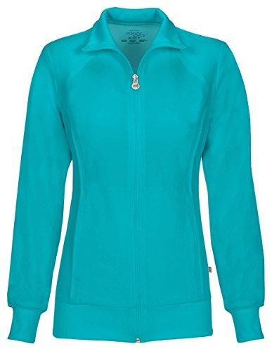 Cherokee Women's Zip Front Warm-Up Jacket_Teal Blue_Medium,2391A (Pull Cherokee)