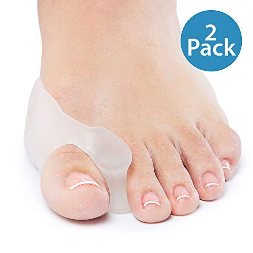 NatraCure Gel Big Toe Bunion Guards & Toe Spreaders - 1315-M CAT 2PK - (2 Pack) - (for Pain Relief from Crooked Toes, Pressure, and Hallux Bunions)