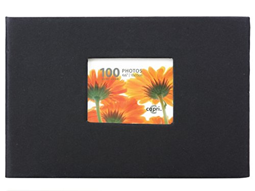 Kiera Grace Photo Album, Holds 100 4-Inch by 6-Inch Photos, Black ()