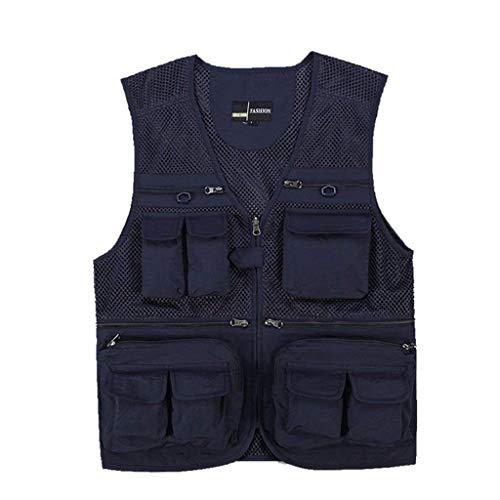 Multi Sezione D Emmay Outdoor Vest Mesh Pocket Nner Strumento Pesca Men Camping Blu Caccia Nn Fotografia Essenziale qvwTq1