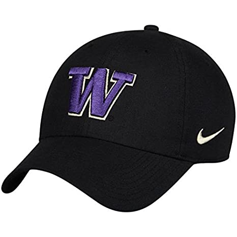 40a504854ea21 Image Unavailable. Image not available for. Color  NIKE Washington Huskies  Heritage 86 Authentic Performance Adjustable Hat Black