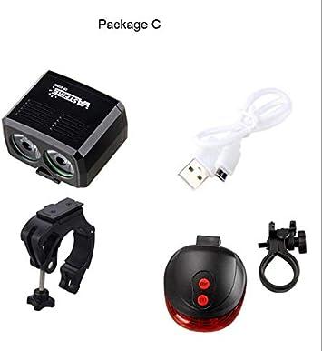 Recargable Mini Bicicletas luz Conjunto MTB USB lúmenes potentes ...