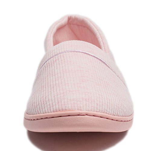 KENSBUY Womens House Fluffy Slippers Indoor Flat Sandals Pink RrudFQA