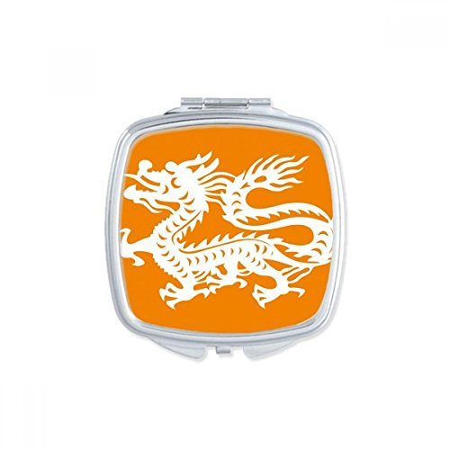 DIYthinker Year Of Dragon Animal China Zodiac Square Compact Makeup Mirror Portable Cute Hand Pocket Mirrors Gift by DIYthinker