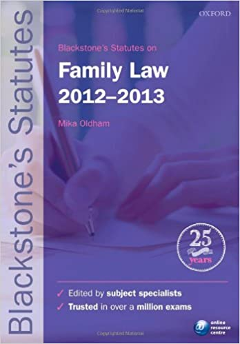 Blackstone's Statutes on Family Law 2012-2013