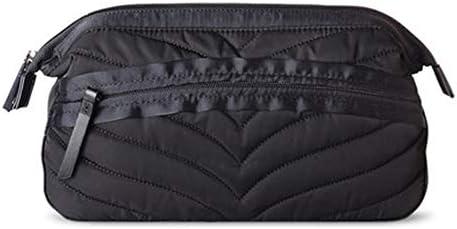 トラベルポーチ化粧ポーチ 洗濯コスメティックバッグ大容量バッグトラベル収納袋ホームバッグ用品 トラベルポーチ 化粧品 (色 : Black, Size : 12x27x13.5cm)