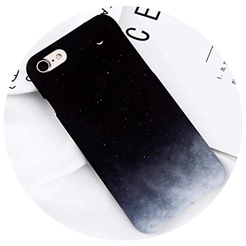 Phone Case for iPhone X Xr Xs Max 8 7 6 6S Plus Lovely Cartoon Starry Sky Moon Ultra Thin Hard Pc Back Cover Cases Capa,: 7,for iPhone 6Plus 6Sp,T1,foriPhone6Plus6sP