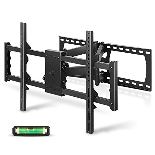 SIMBR TV Wall Mount Bracket with Full Motion Double Articulating Arm for most 30-85 Inches LED, LCD and Plasma TVs up to VESA 700x400mm and 176 LBS, with Tilt, Swivel, and Level Adjustment