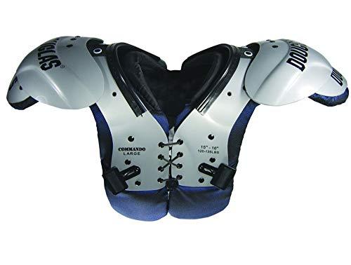 Douglas Commando Youth Shoulder Pads (Grey, Small)
