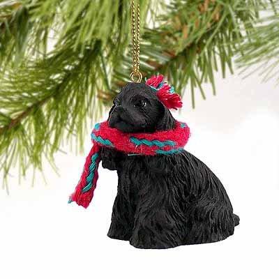 1 X Cocker Spaniel Miniature Dog Ornament - Black by Conversation Concepts - Cocker Spaniel Christmas Ornament