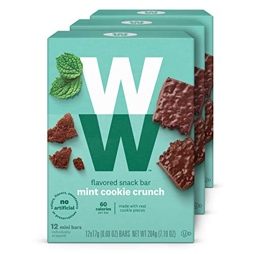 WW Mint Cookie Crunch Mini Bar - Snack Bar, 2 SmartPoints - 3 Boxes (36 Count Total) - Weight Watchers ()