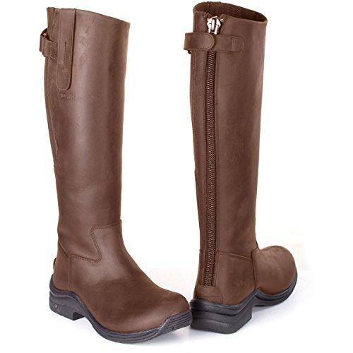 Toggi Botas de equitación para mujer marrón