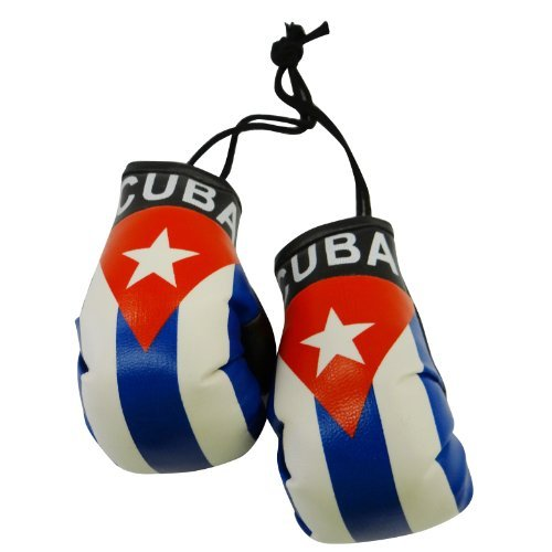 Cuba Country Flag Mini Boxing Gloves to Hang Over Your Automobile Mirror New