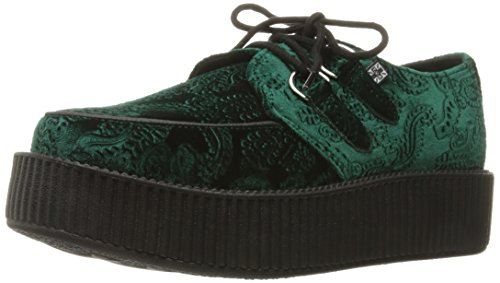 Green u k Emerald Velvet Viva T Dark Creeper Women's Shoes C6H11q
