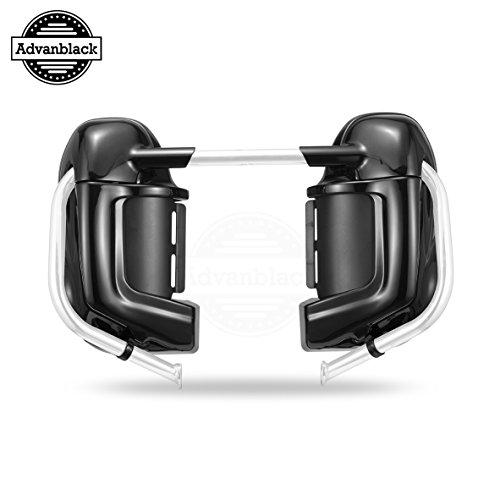US STOCK! Advanblack Vivid/Glossy Black Pre-Rushmore Lower Vented Leg Fairing Kits Glove Box For Harley Touring Road Street Electra Glide Road King FLHR 1983-2016