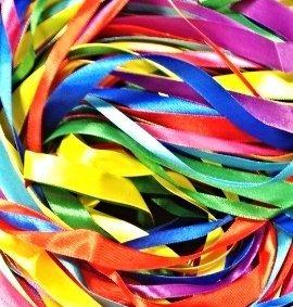 Longueur totale des rubans satin/és/: 40 m/ètres Glitterati Longueur/: 2,5 m Lot de rubans satin/és de 8 couleurs diff/érentes Largeur/: 2 cm