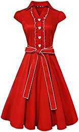 Amazon.com: Red - Casual / Dresses: Clothing Shoes &amp Jewelry