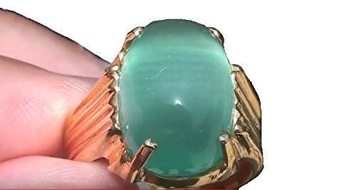 Cats Eye Green Calcite 11.71ct Is a Known Stress Reliever and is Useful for Bone,Ligament and Joint Issues by Green Cats Eye Calcite