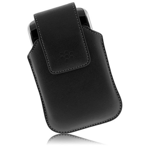 BlackBerry Factory Original Leather Swivel Case for 9930 9760 9530 Series and others