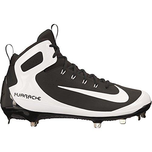 Nike Hommes Alpha Huarache Elite Baseball Taquet Noir / Blanc / Loup Gris
