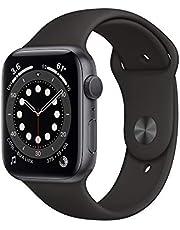 AppleWatch Series6 (GPS) • 44mm aluminiumboett rymdgrå • sportband svart – standard