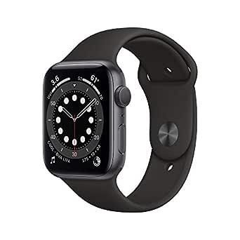 Nyhet AppleWatch Series6 (GPS) • 44mm aluminiumboett rymdgrå • sportband svart
