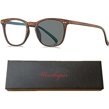 2306d55e6bdd WEARKAPER Transition Sunglasses Photochromic Reading Glasses Men Women  Presbyopia Eyewear Diopters Glasses (2.50X,